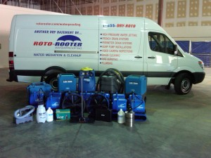 Roto-Rooter has state-of-the-art equipment for water restoration services
